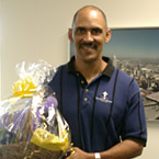 IMAGE: Tony Dungy and Basket of Hope
