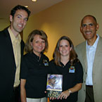 IMAGE: Nathan Whitaker, Angela Brunette, Jackie Cook, and Tony Dungy