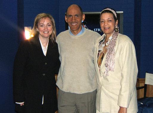 Vicki Frye (Urban Ministries) Coach Dungy, Carol Cartwright