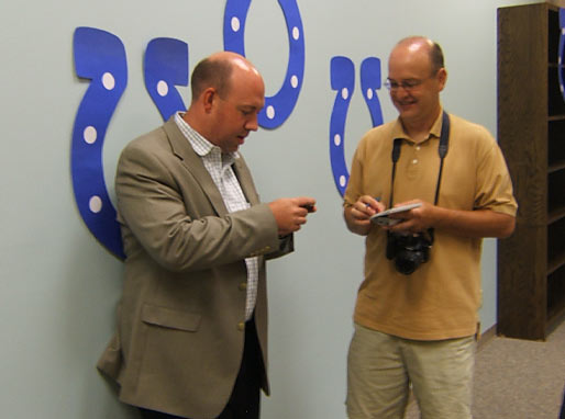 Todd Starowitz having an interview
