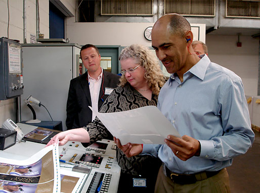 Coach Dungy at the initial print run of Quiet Strength