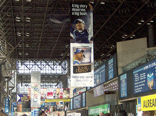 Quiet Strength banner hanging at Book Expo America (BEA) in New York, June 2007