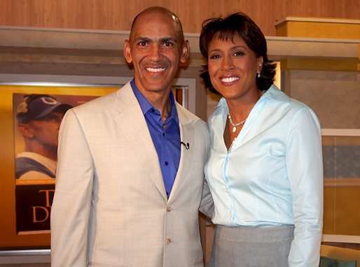 Tony Dungy and Robin Roberts