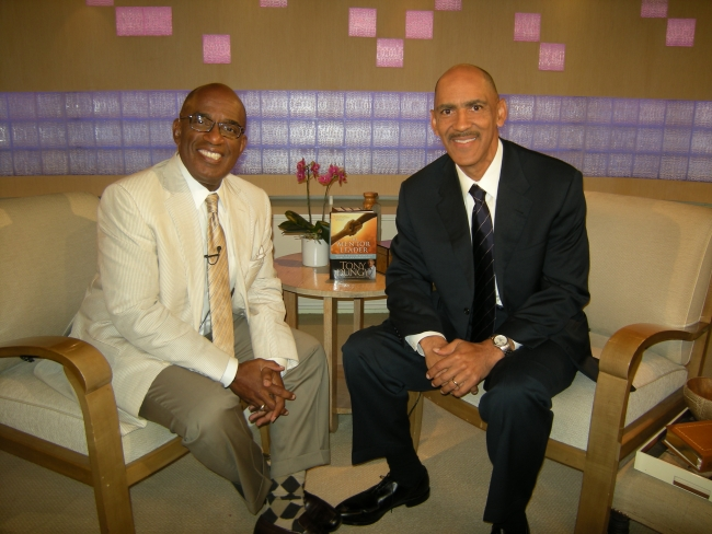 Tony with Al Roker on The Today Show
