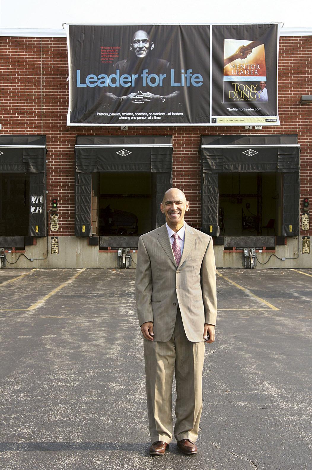 Tony outside warehouse