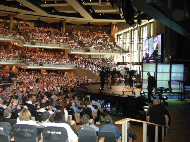 Tony on stage at Willow Creek Global Summit