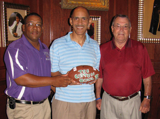 Grand Prize Winners Coach Roy Serie and Coach Dutton Wall with Coach Tony Dungy!