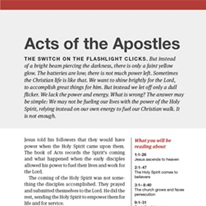 Inset view of a HelpFinder Bible book introduction