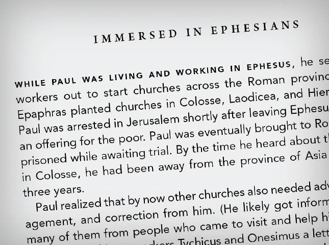 Immerse Bible introduction to Ephesians
