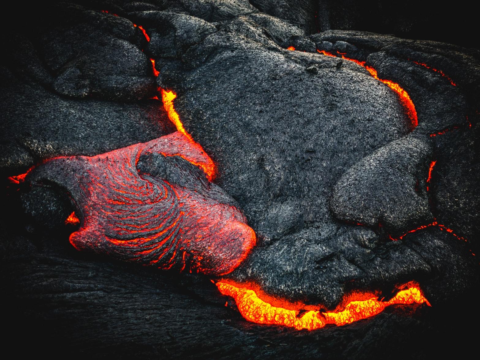 lava near volcano