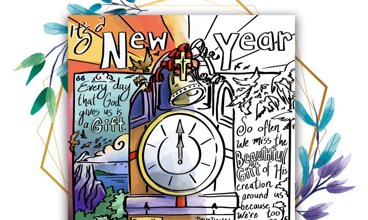 New Year's 2021 Coloring Page - The Arc