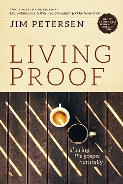 Front cover image of Living Proof by Jim Petersen. Available to purchase on the link!