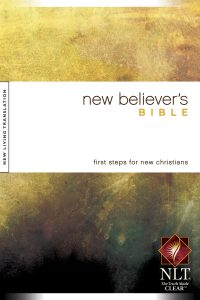 Front Cover image of the New Believers Bible. Best study Bibles.