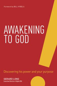 "Front cover image of the book, Awakening To God, which helps readers discover ""the Jesus way"" to finding their purpose in life. From Unfolding Stories episode 1, our brand new Christian testimony podcast."