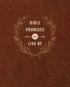 Front cover image of the book, Bible Promises to Live By. A featured resource in this week's Unfolding Stories.