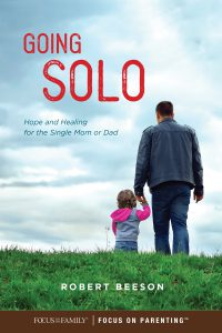 Front cover of the book, Going Solo, all about finding hope and healing as a single parent. This theme is included in the seventh episode of the Christian testimony podcast, Unfolding Stories.