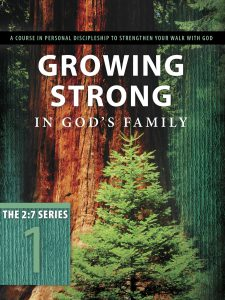 Front cover image of the Bible study book, Growing Strong in God's Family. One of our recommended resources from this week's Unfolding Stories Christian podcast.