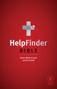 Front cover image of the HelpFinder Bible, a great resource for anyone new to faith or who needs direction on any worry, doubt or concern they may have. This Bible provides pathways and direct answers to God's promises and provision. Listen to this episode to hear another amazing Christian testimony on our Unfolding Stories podcast!