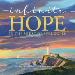 Front cover image for the book, Infinite Hope In the Midst of Struggles. One of our recommended resources for this week's Christian testimony podcast.