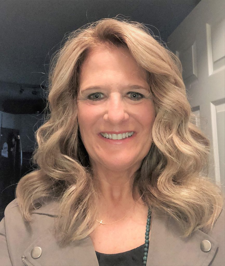 Picture of this week's guest speaker Jill. Jill recalls how God was always in her life, but because the center of her life once she found herself, and her church home. Listen to Jill's Christian testimony on the Unfolding Stories podcast.