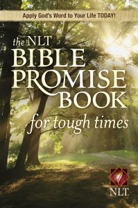 Front cover image of one of this week's recommended resources, the book The NLT Bible Promise Book for Tough Times.