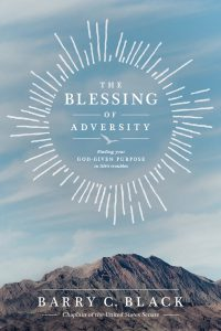 Front cover image of the book, The Blessing of Adversity, one of our recommended resources for this week's Unfolding Stories Christian testimony podcast.