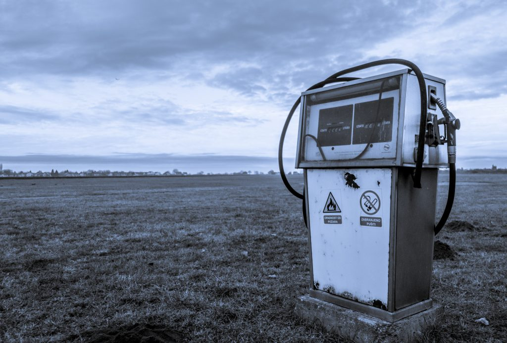 A disused gas pump stands on a wild open plain with no real reason for being there. We can get lost or detoured by our own understanding, instead of trusting God's promises.